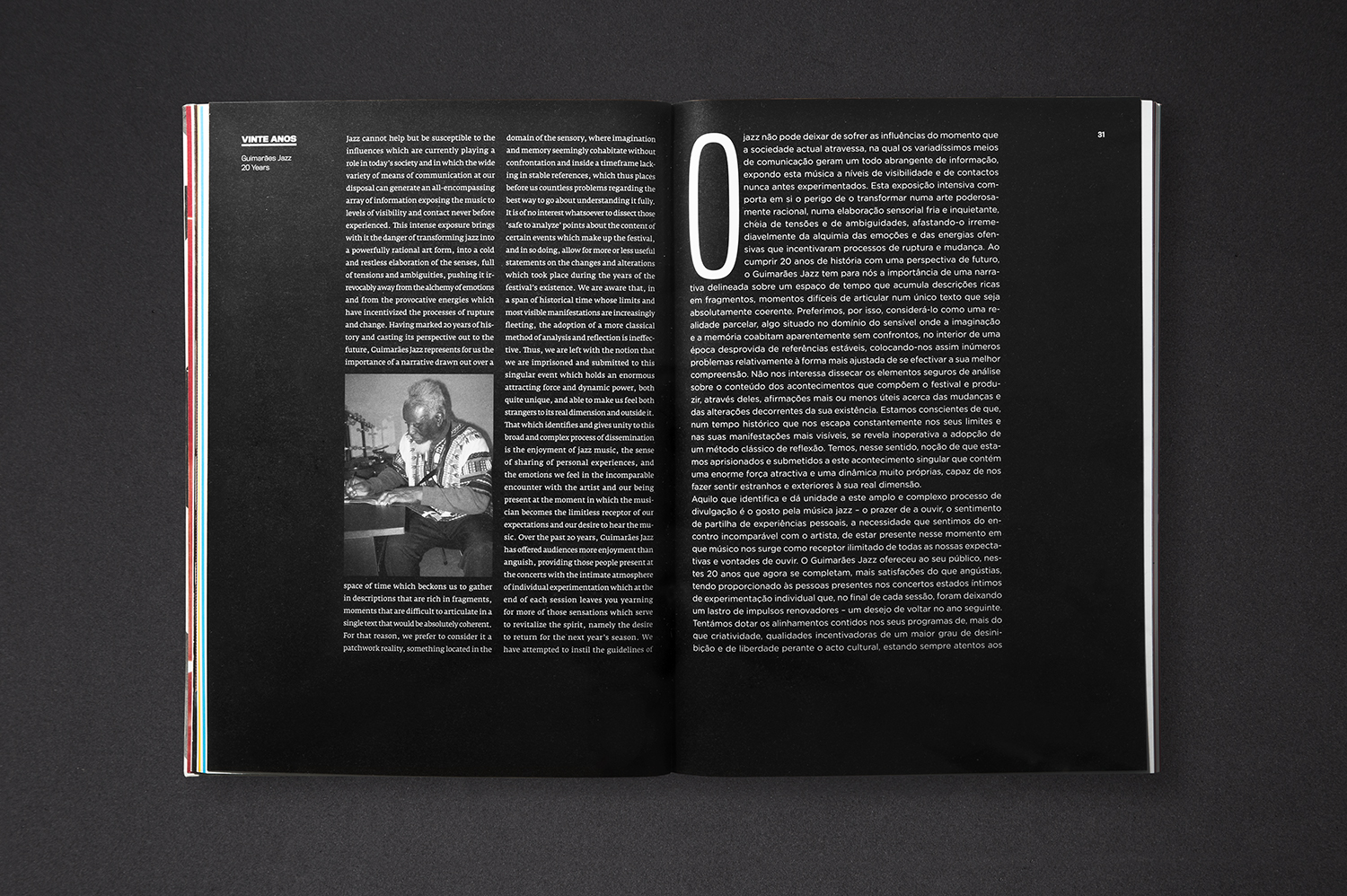OSCAR MAIA Commemorative Book — 20 Years of Guimarães Jazz